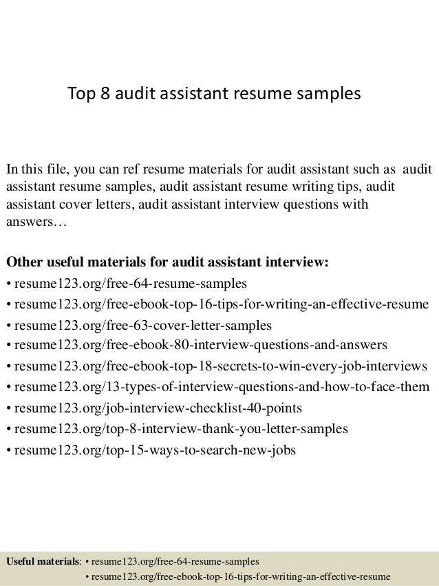audit assistant resume