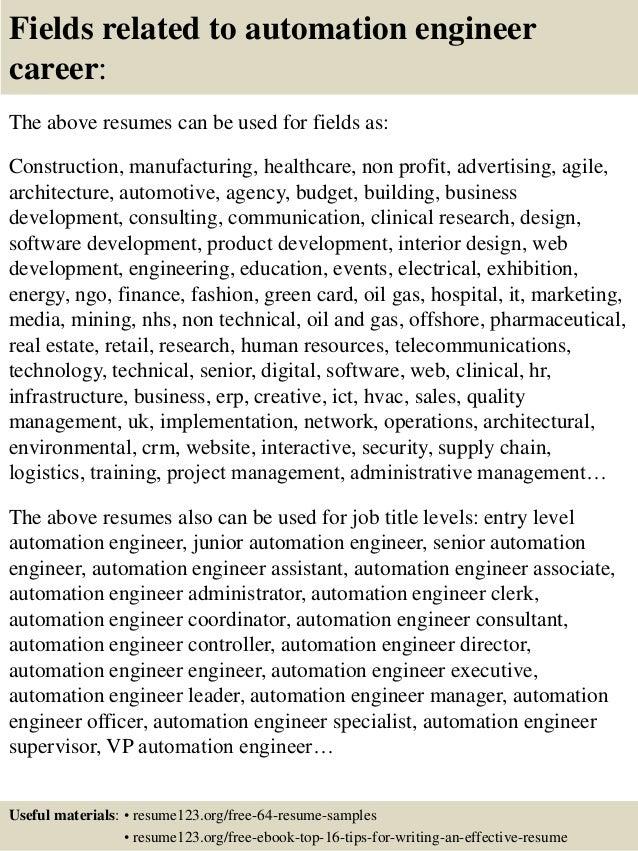 Automation Engineer Resume Template
