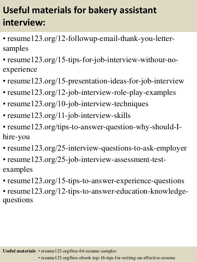 Top 8 bakery assistant resume samples