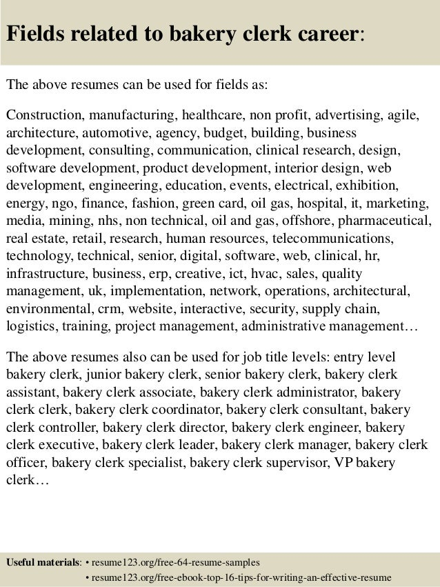 bakery cashier resumes - Gecce.tackletarts.co