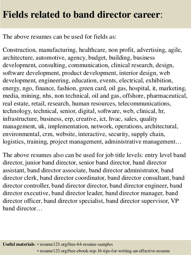 Band Director Resume Samples. top 8 band 5 staff nurse resume ...