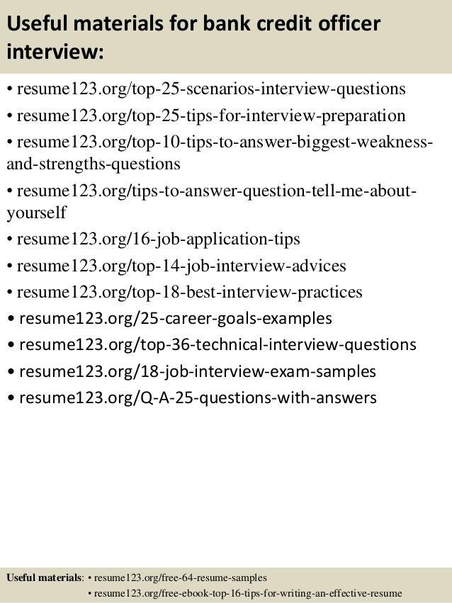 13 useful materials for bank credit officer - Credit Officer Sample Resume