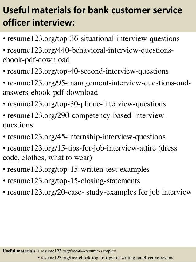 sample resume for customer service representative in bank