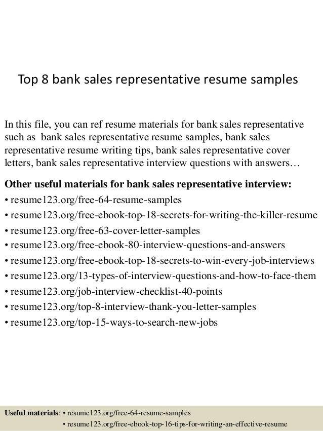 sample sales rep resume