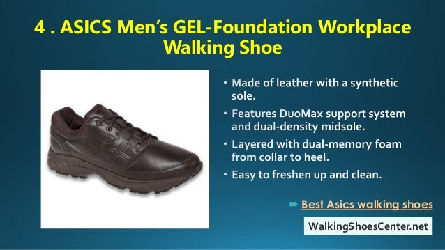 5fba5c3dc7 ... walking shoes; 5. 4 . ASICS Men's GEL-Foundation Workplace ...