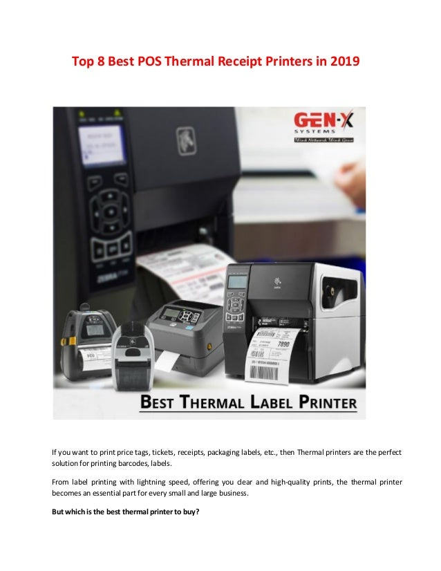 Top 8 best thermal receipt printers in 2019
