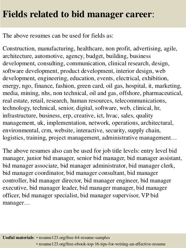 Bed Manager Cover Letter. Bid Manager Cover Letter. Business ...