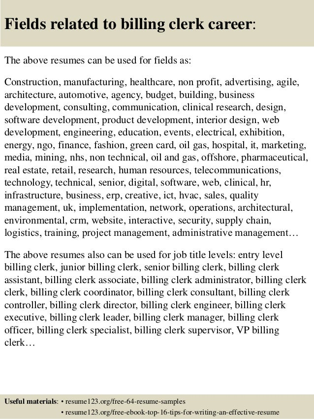 Medical Billing Clerk Resume | A Qualitative Expert System For Clinical Trial Assignment Billing