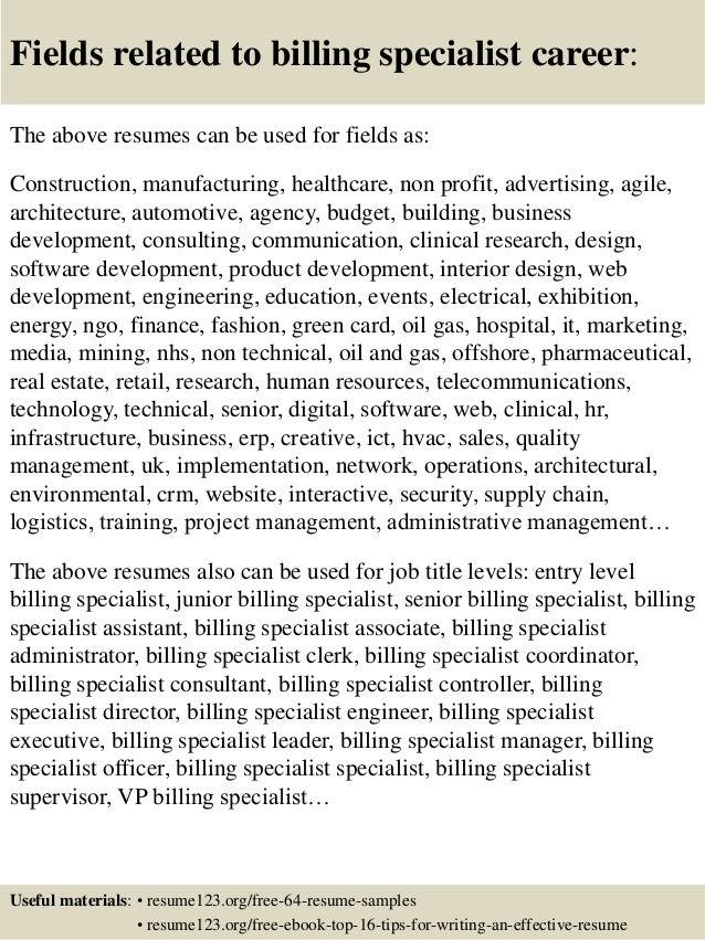 Medical Billing And Coding Externship Resume Sample Medical Billing  Cover Letters Medical Billing Specialist Resume Medical     snefci org
