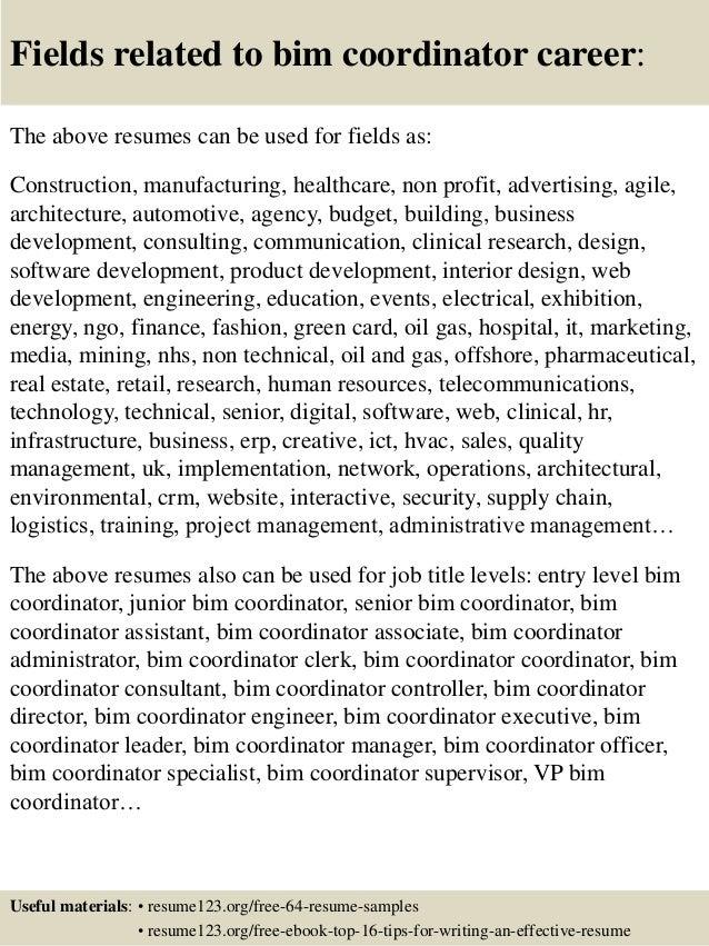 Top 8 Bim Coordinator Resume Samples