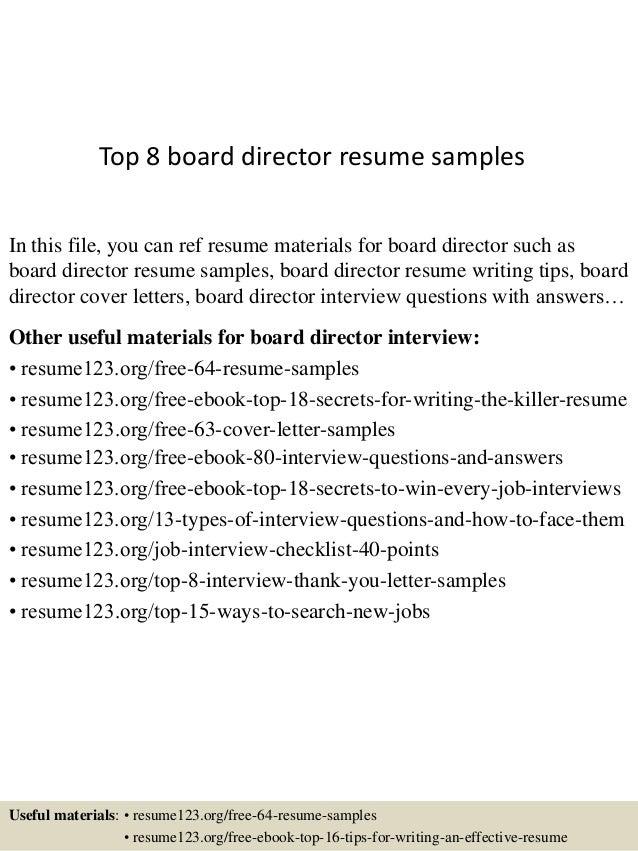 how to write a director cv