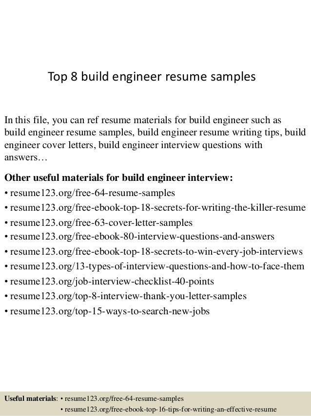 top 8 build engineer resume samples 1 638 jpg cb 1432128360