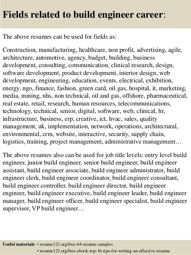 top 8 build engineer resume samples