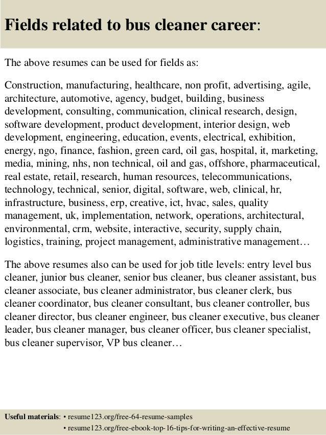 96 Cleaning Supervisor Resume