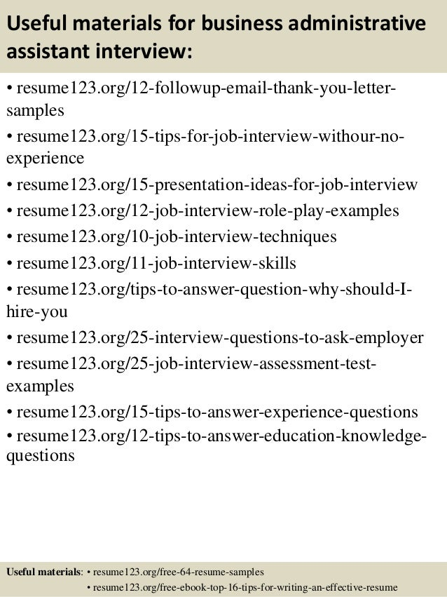 How to Prepare for an Administrative Assistant Interview.