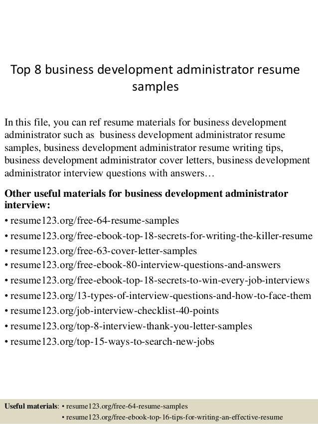 Resume Sample Business