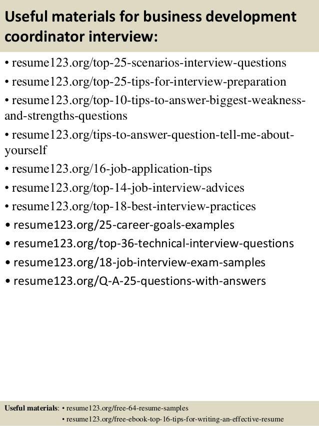 top 8 business development coordinator resume samples