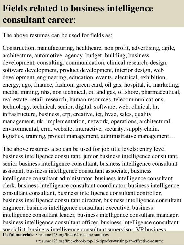 Business Intelligence Developer Sample Resume. salesforce sample ...