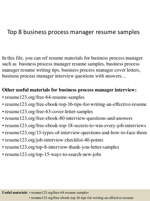 business process management resume kleo beachfix co