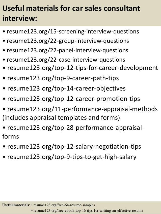 resume example sales