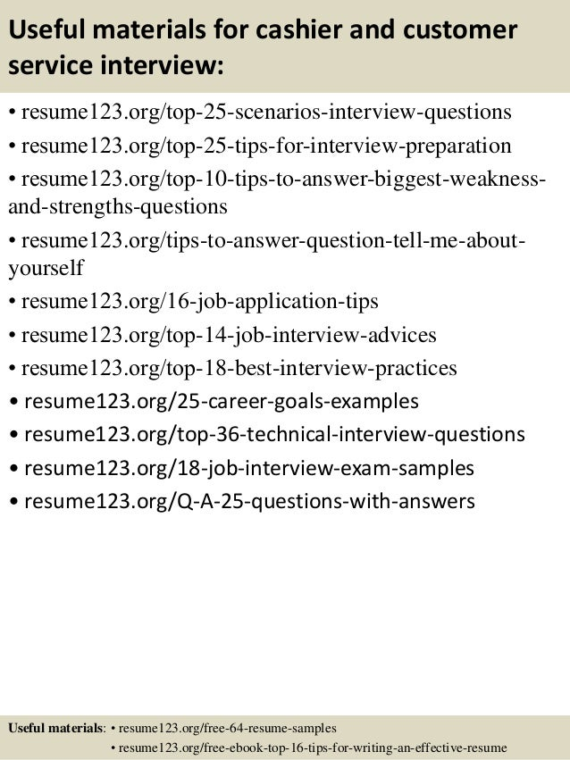 resume objectives for cashier