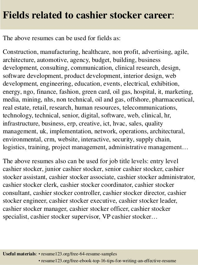 stocker resumes