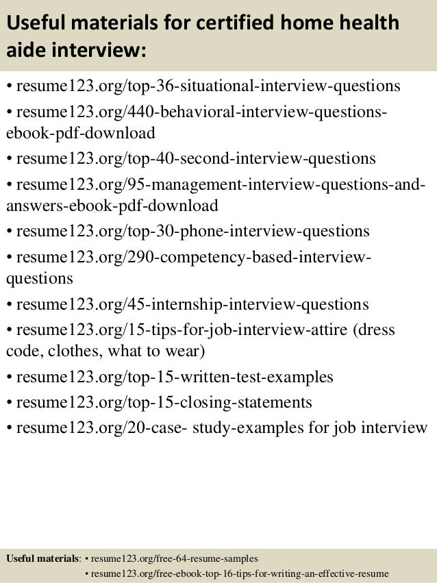 hha resume