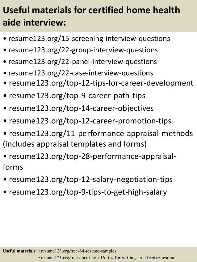 Home Health Aide Resume Sample My Perfect Resume Reentrycorps  Home Health Aide Resume Sample