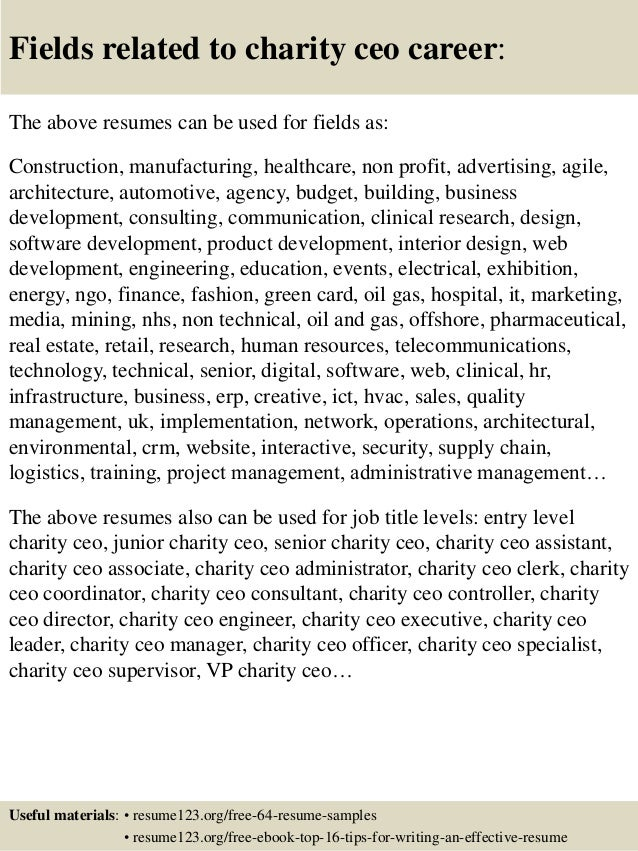 16 - Writing Resume Samples