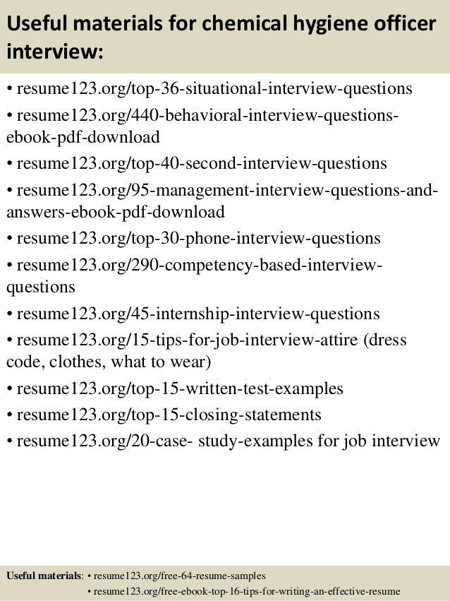 top 8 chemical hygiene officer resume samples - Chemical Hygiene Officer Sample Resume