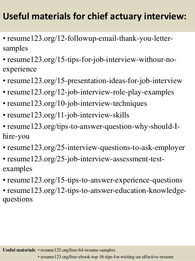 14 - Sample Actuary Resume