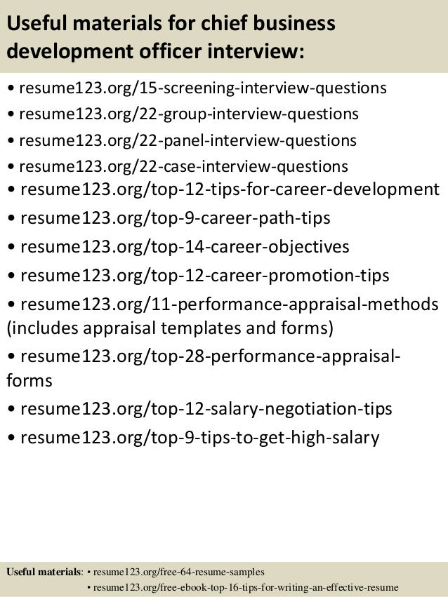 top 8 chief business development officer resume samples