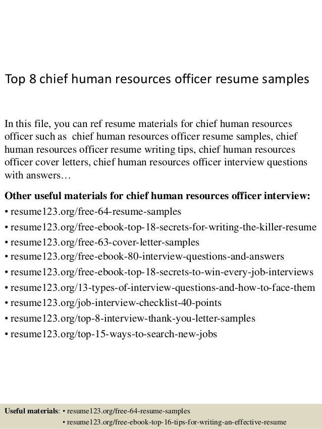 Top 8 Chief Human Resources Officer Resume Samples In This File, You Can  Ref Resume ...  Human Resources Resume Samples