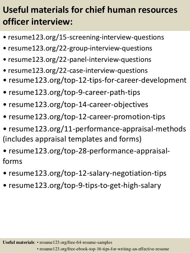 ... 15. Useful Materials For Chief Human Resources ...