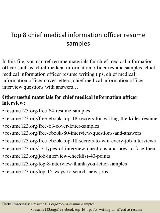 top8chiefmedicalinformationofficer resumesamples1638jpgcb 1431858621 – Chief Medical Officer Job Description