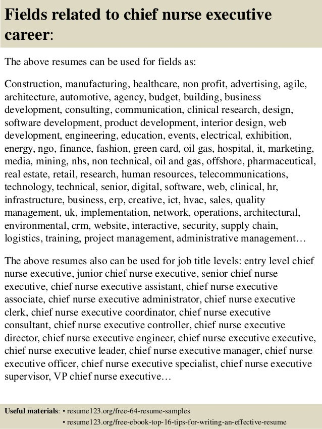 Top 8 Chief Nurse Executive Resume Samples