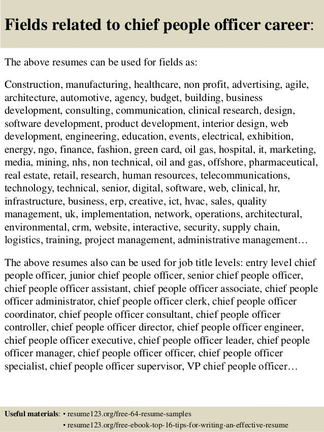 top 8 chief people officer resume samples
