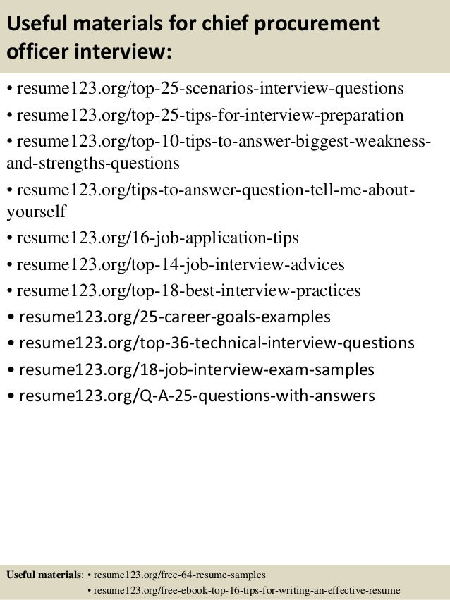 top 8 chief procurement officer resume samples