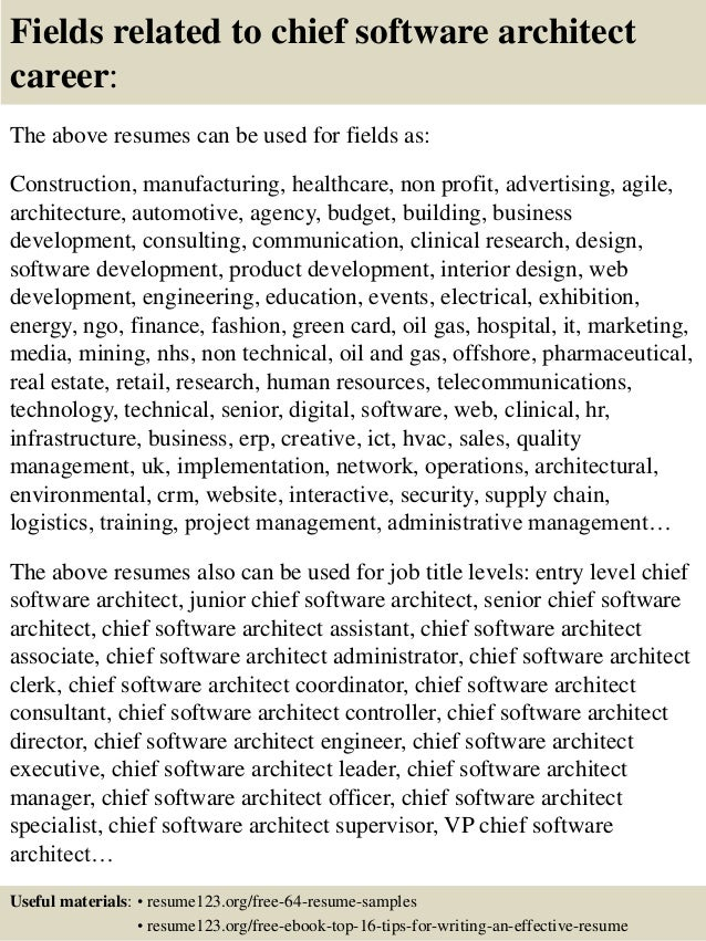 ... 16. Fields Related To Chief Software Architect ...