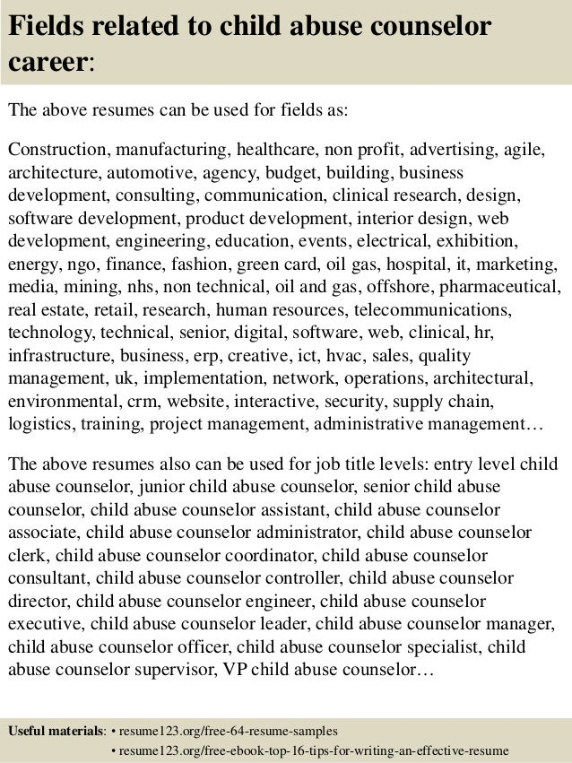 Counselor Resume Examples Objective resume for counseling