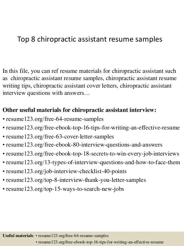 cover - Chiropractic Assistant Duties