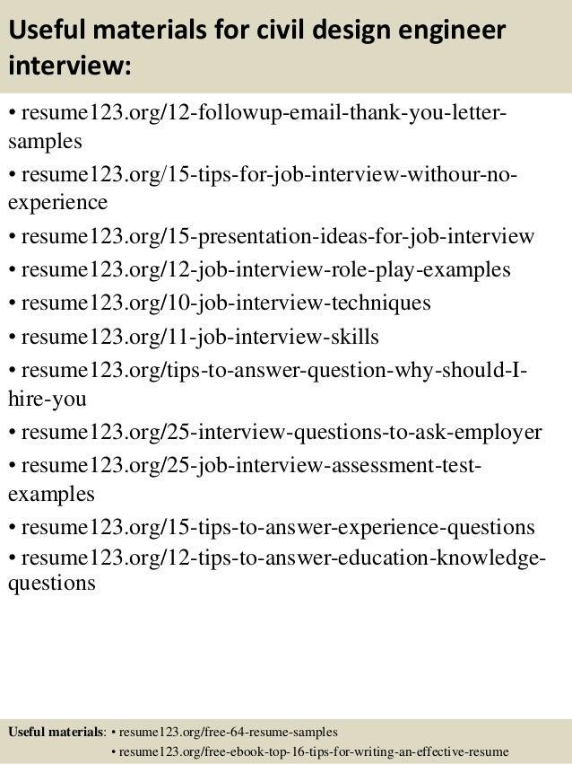 14 useful materials for civil design engineer - Optical Design Engineer Sample Resume