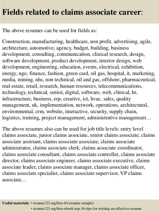 associate resumes