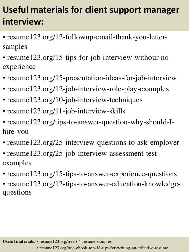 application support resume