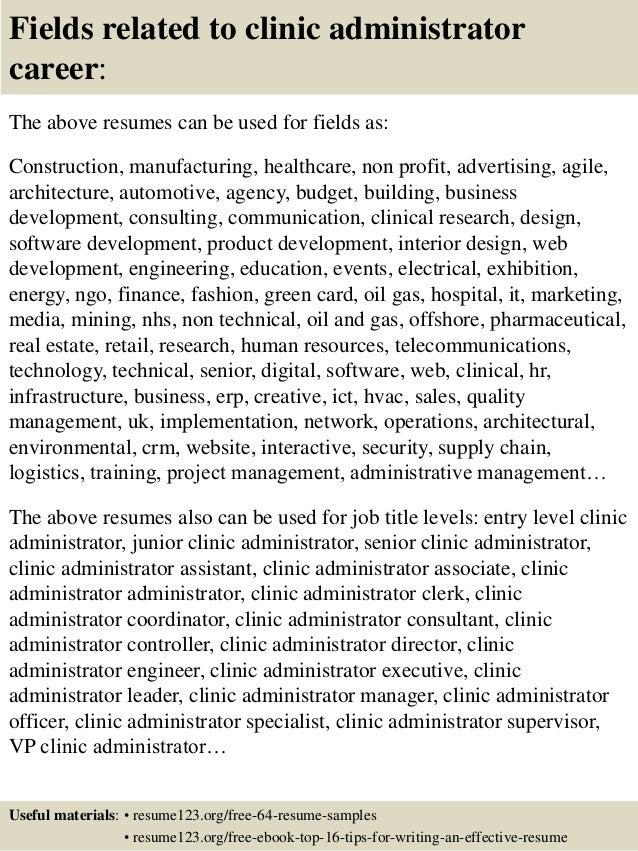 clinic manager resume - Romeo.landinez.co