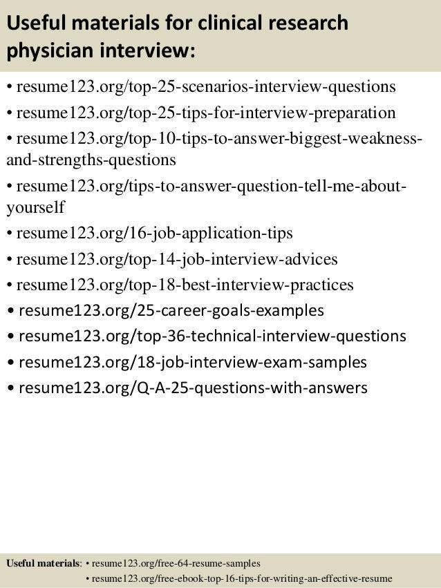 Clinical Research Resume - Contegri.com