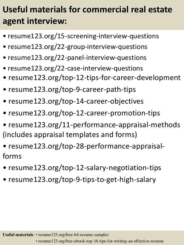 Sample Realtor Resume. Real Estate Broker Cover Letter 3 Resume ...