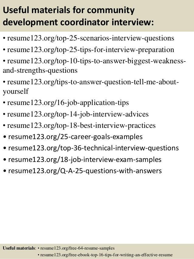 Top 8 community development coordinator resume samples