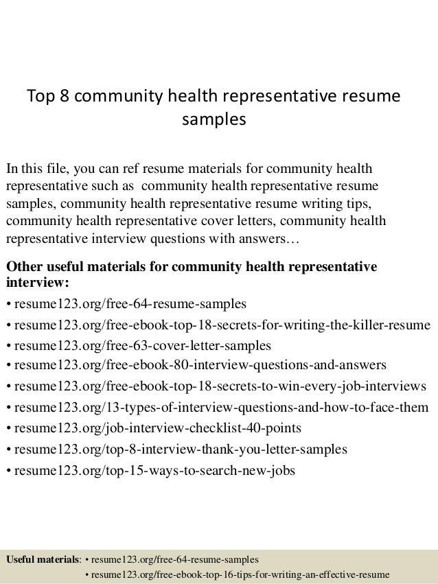 community health resume