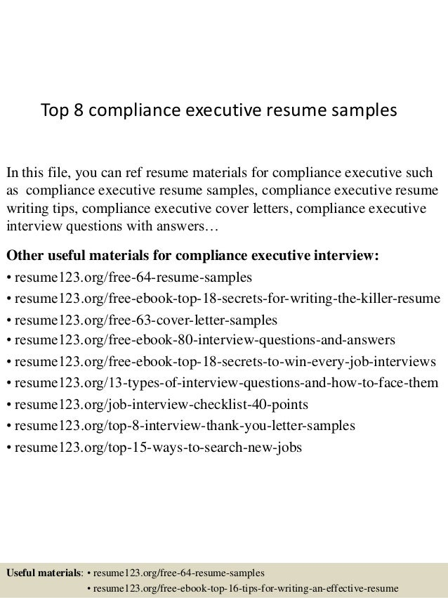 TopComplianceExecutiveResumeSamplesJpgCb
